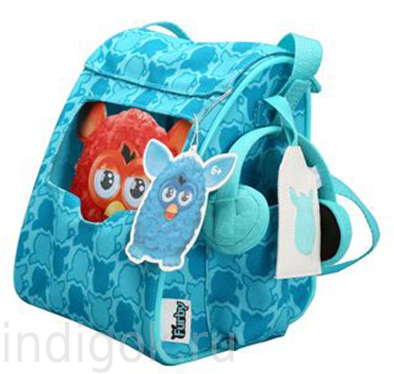 Furby Fashion Carrier Sling Bag Exclusive Teal - сумка-рюкзак для ферби.