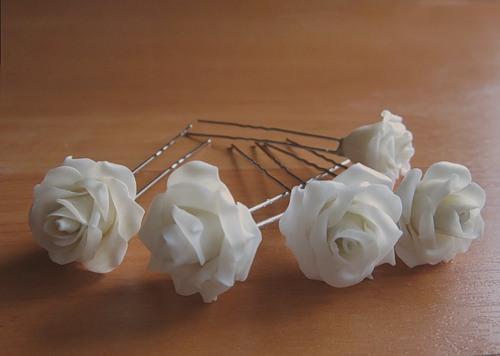 Свадебные заколки своими руками