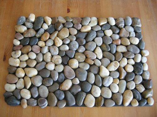 Коврик из камней какой клей