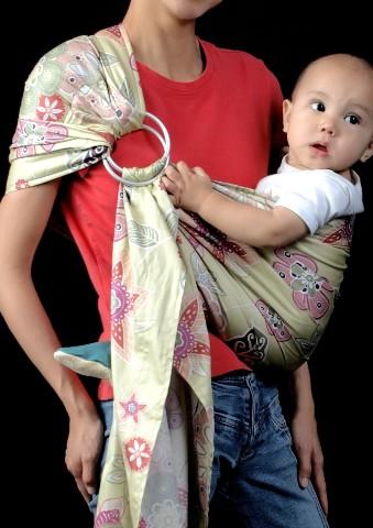 Сшить слинг с кольцами для новорожденных 48