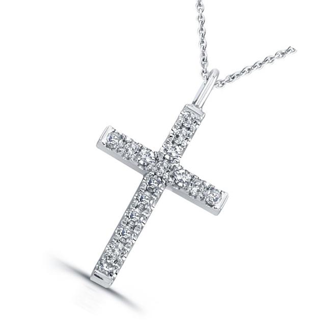 Модные крестики из золота