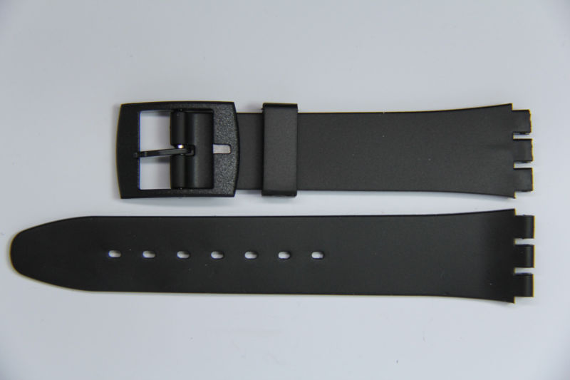 Купить Ремешки для часов Unbranded на eBay.com. 17mm (20mm) Resin Watch Straps Black for Swatch Watches supplied