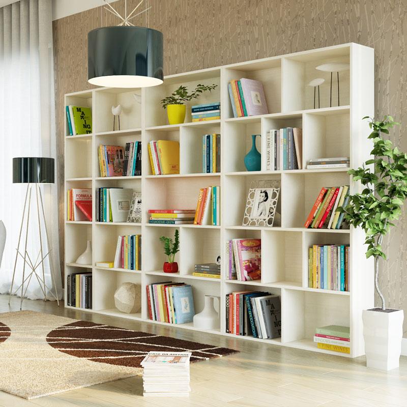 Книжный шкаф белый, особенности подобной мебели и правила ух.