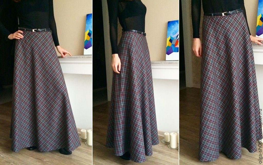 Сшить длинную юбку из шерсти 153