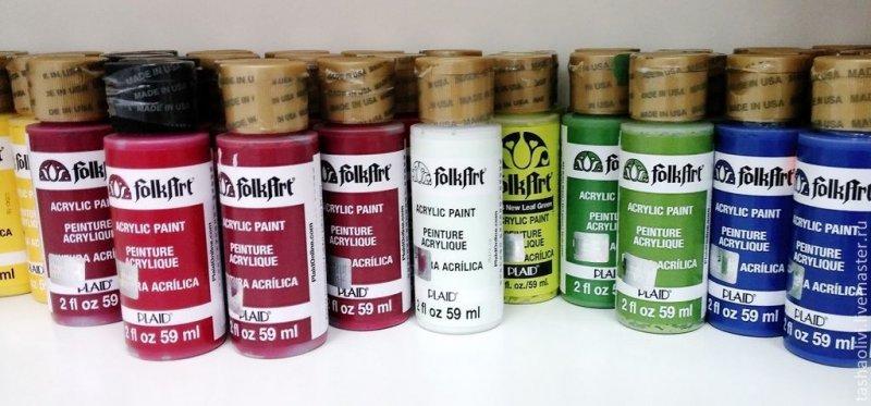 Акриловые краски для декупажа в москве
