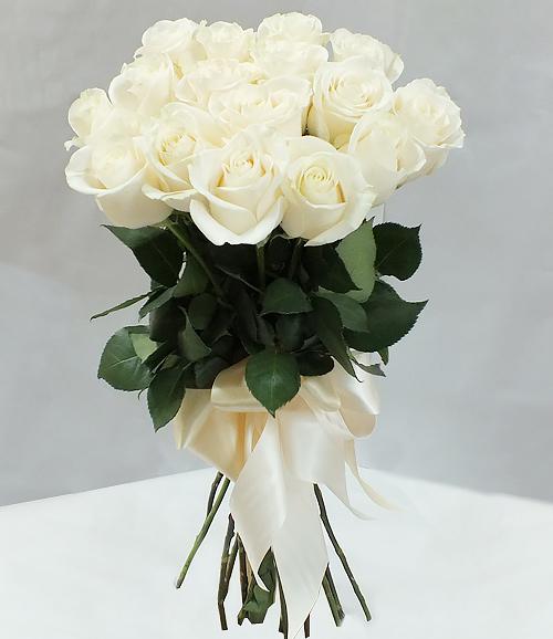 фото белых букетов роз