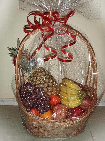 Корзину из фруктов своими руками фото