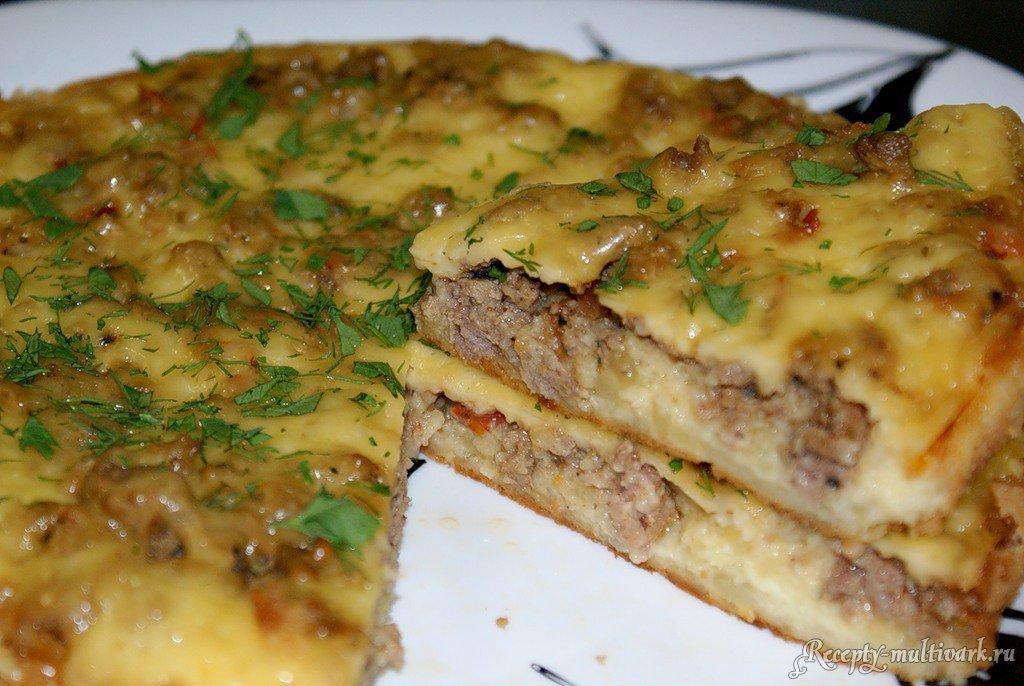 Запеканка картофельная с фаршем в духовке рецепт пошаговый с фото