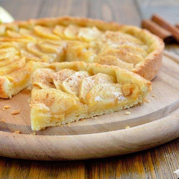 Пирог яблочный открытый 140