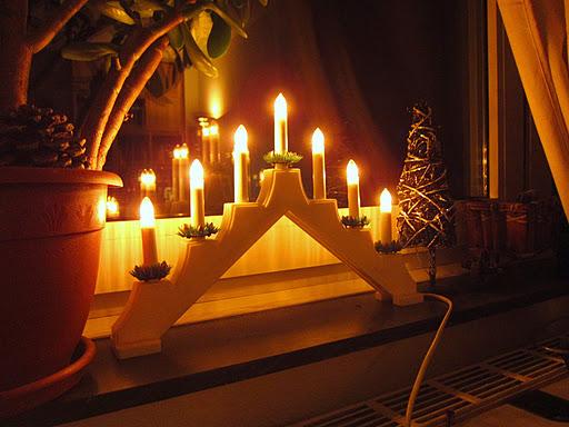 Рождественский семисвечник своими руками